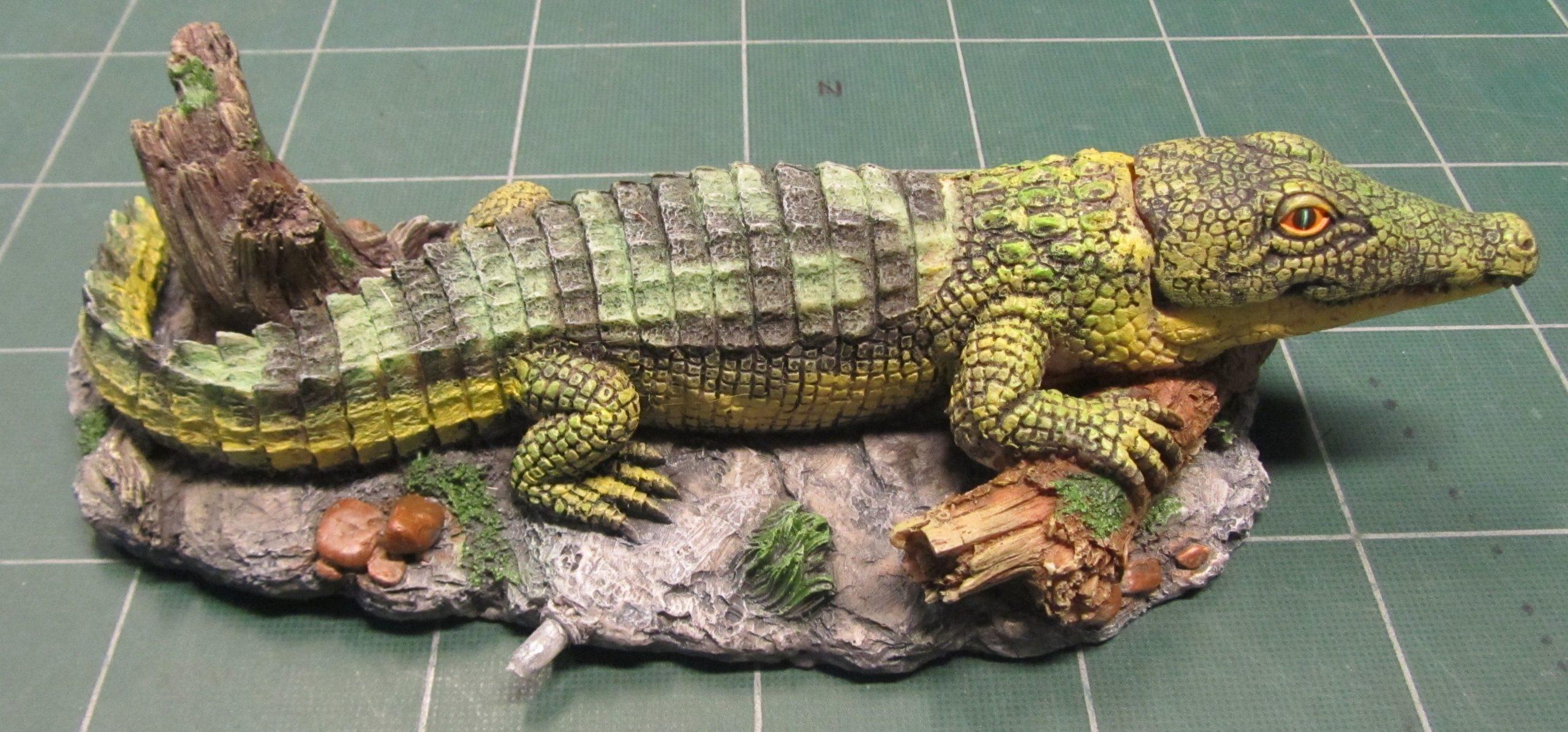 Krokodille til luft.