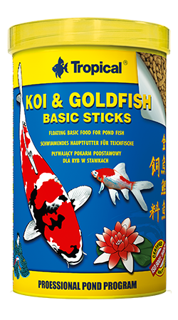 Tropical koi/goldfish bacic sticks 1 ltr.
