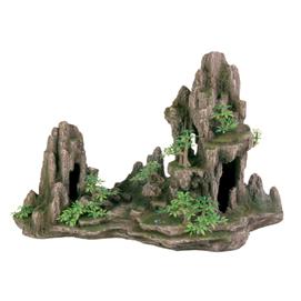 Fjeld med hule og planter 45 cm.