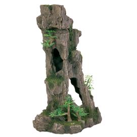 Fjeld med hule og planter 28 cm. stående