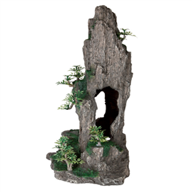 Fjeld med hule og planter 35 cm. stående