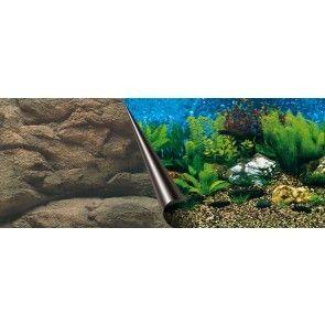 Ebi 50 x 120 cm. baggrund plante / klippe dobbeltsidet