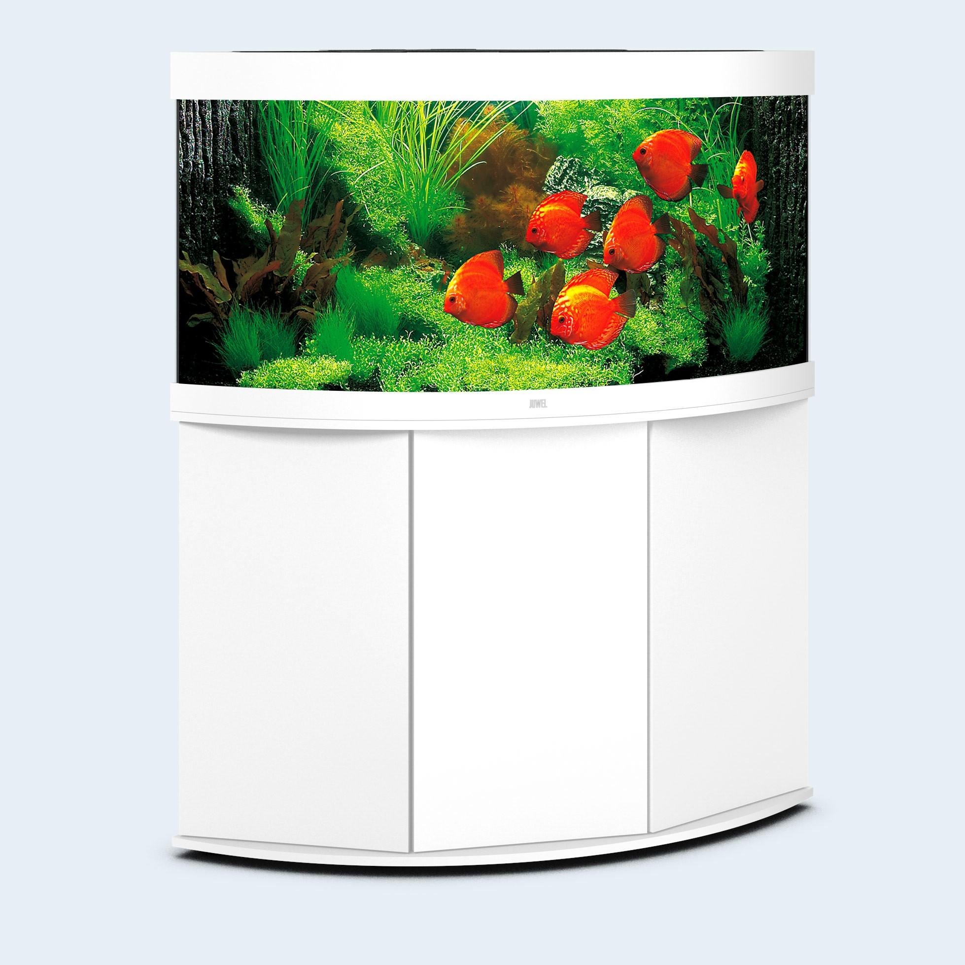 Juwel Trigon 350 liter hvid med underskab og Ledlys
