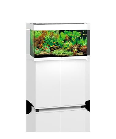 Juwel Rio 125 liter hvid med underskab og Ledlys