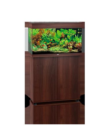 Juwel Rio 125 liter brun med underskab og Ledlys