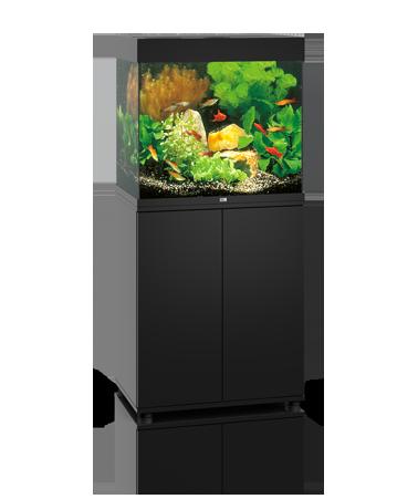 Juwel Lido akvarie 120 liter sort med underskab og Ledlys