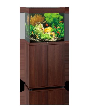 Juwel Lido akvarie 120 liter brun med underskab og Ledlys