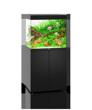 Juwel Lido akvarie 200 liter sort med underskab og Ledlys