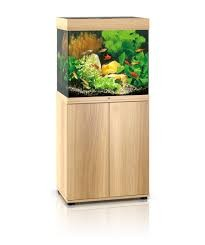 Juwel Lido akvarie 200 liter lyst træ med underskab og Ledlys