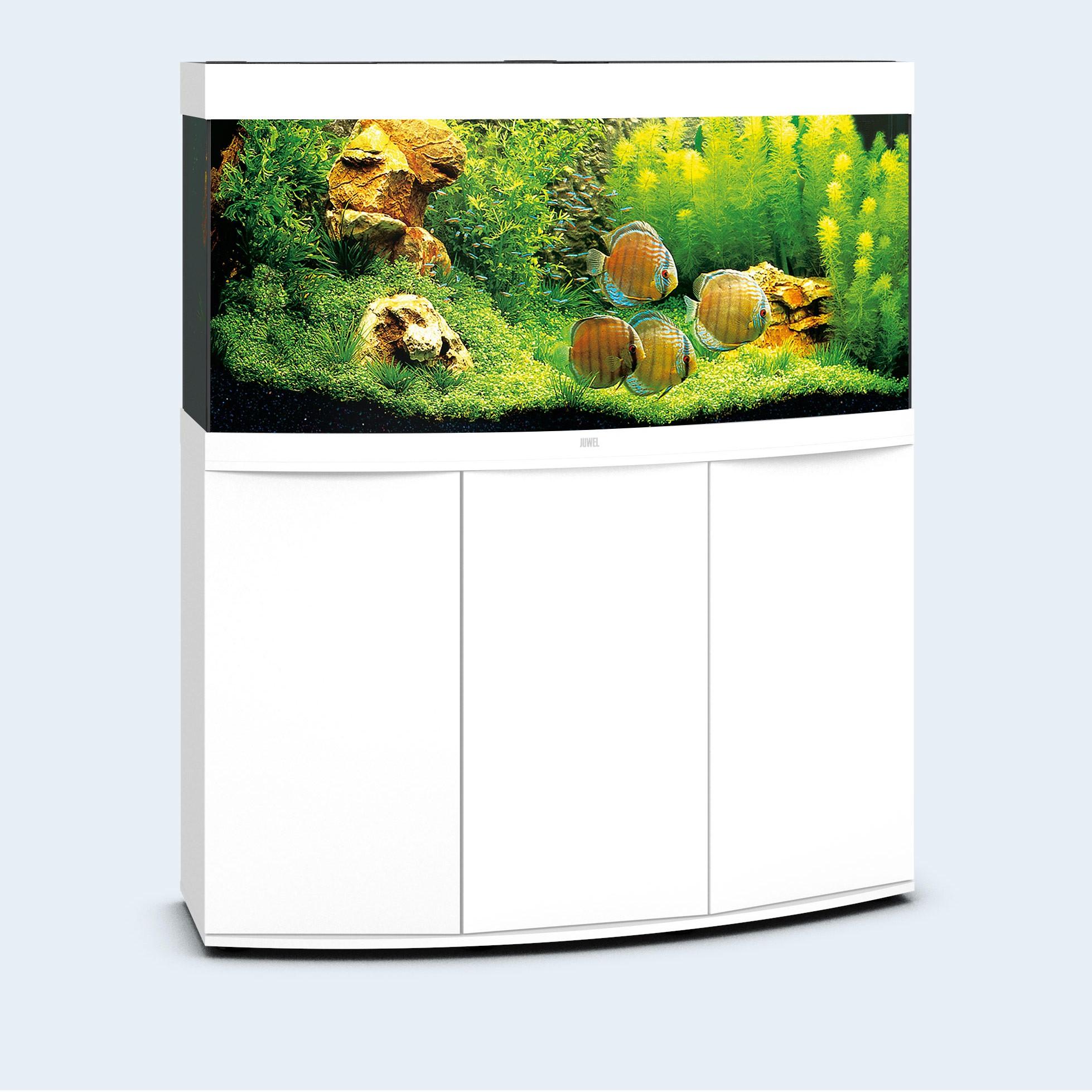 Juwel vision 260 liter hvid med underskab og Ledlys