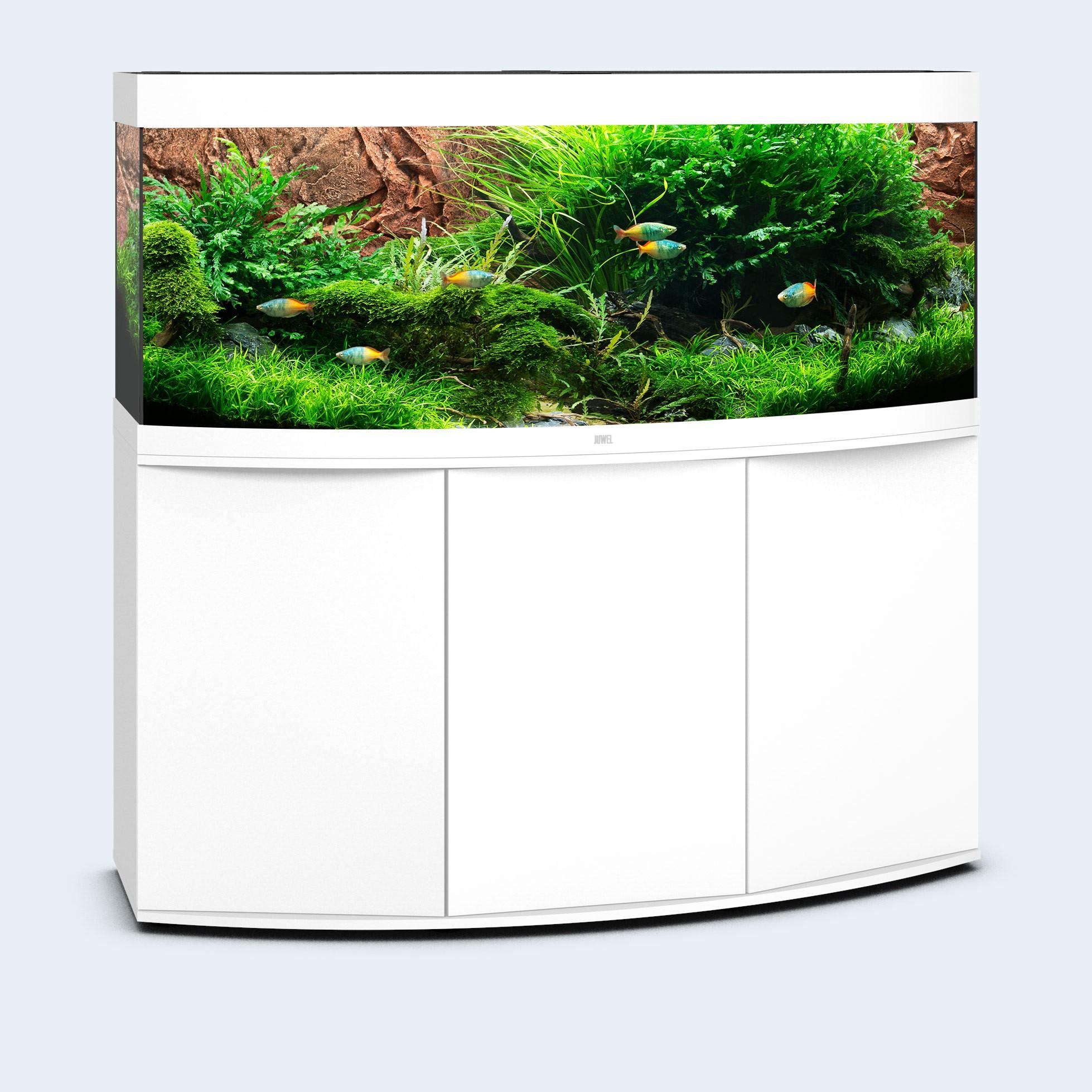 Juwel vision 450 liter hvid med underskab og Ledlys
