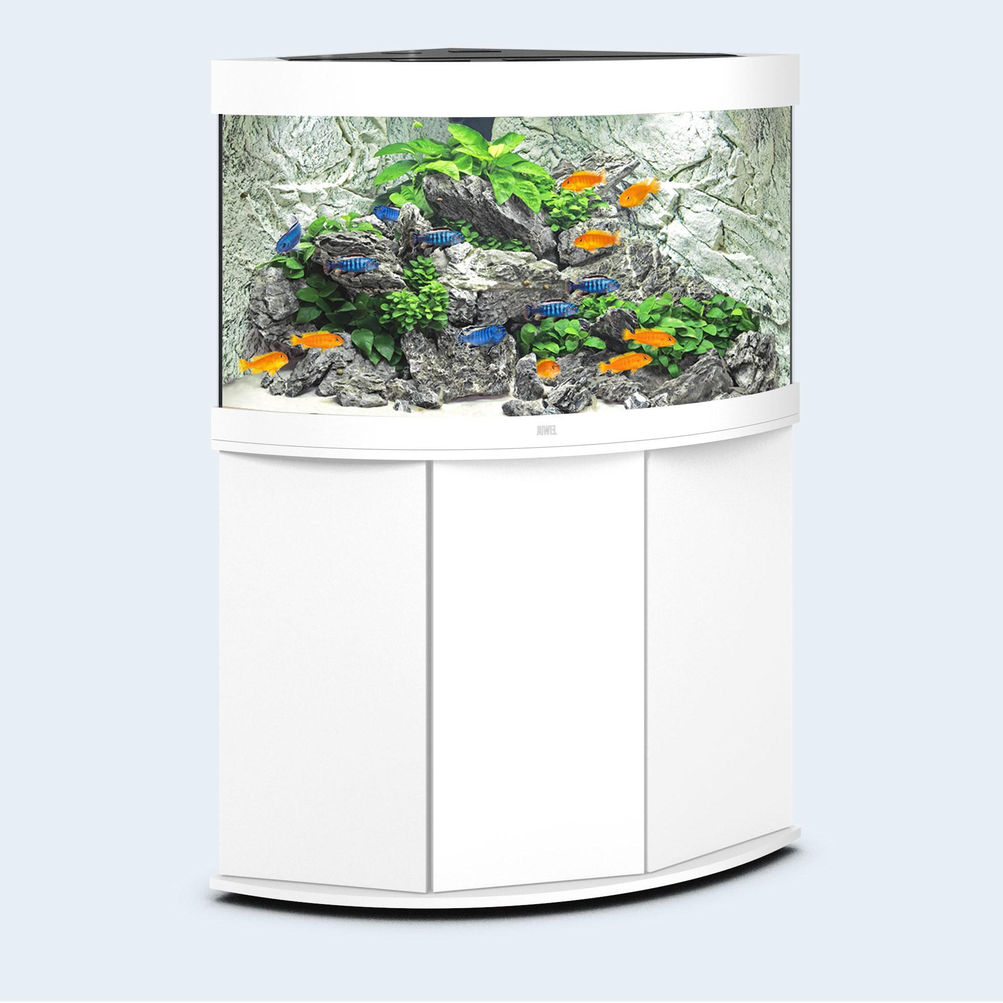 Juwel Trigon 190 liter hvid med underskab og Ledlys