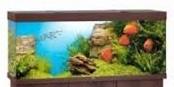 Juwel Rio Akvarie 450 liter mørkt træ med Ledlys
