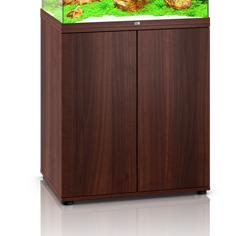 Mørkt træ farvet akvarie underskab til 200 liter Lido model