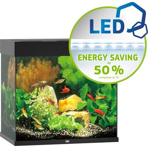 Juwel Lido akvarie 120 liter sort med Ledlys