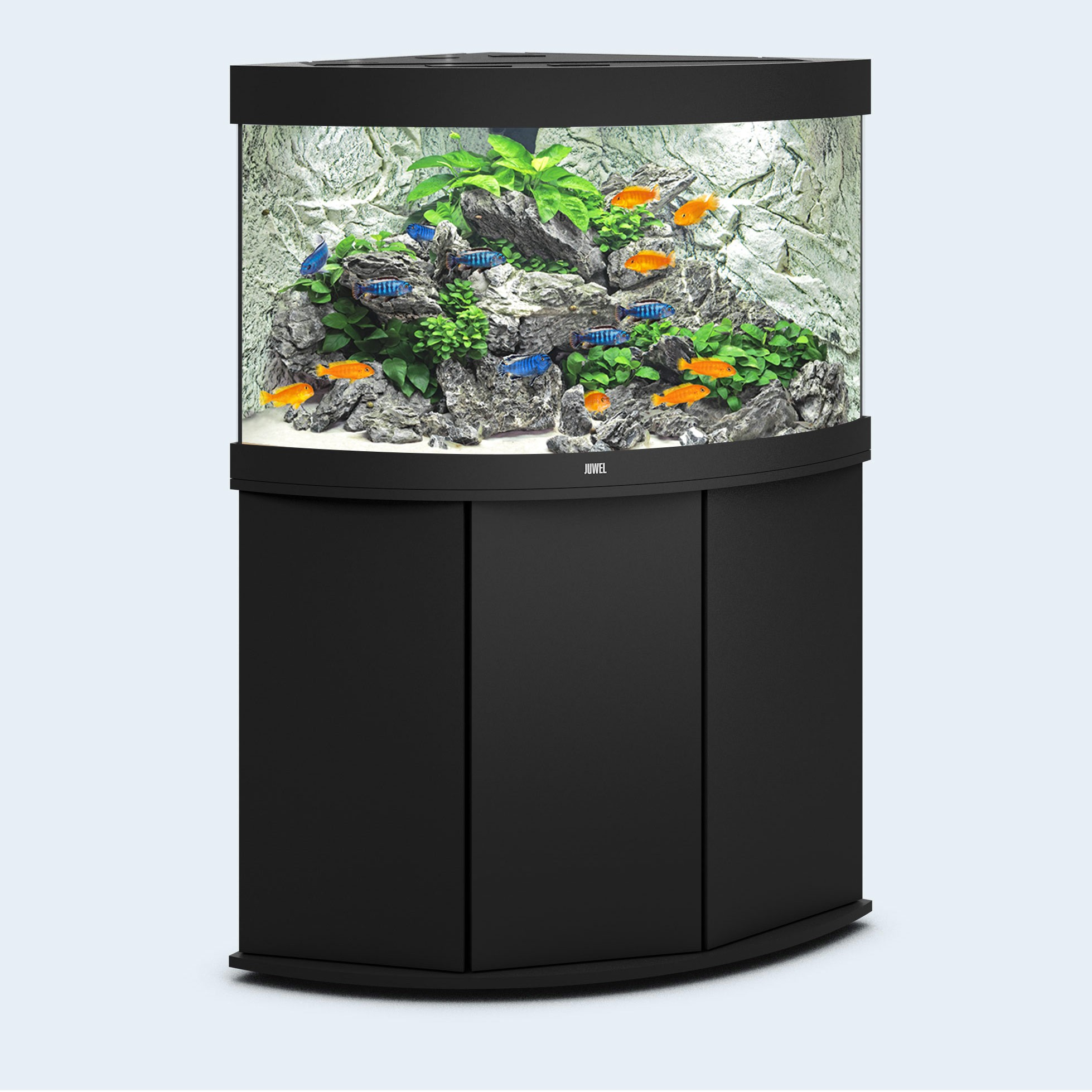 Juwel Trigon 190 liter sort med underskab og Ledlys