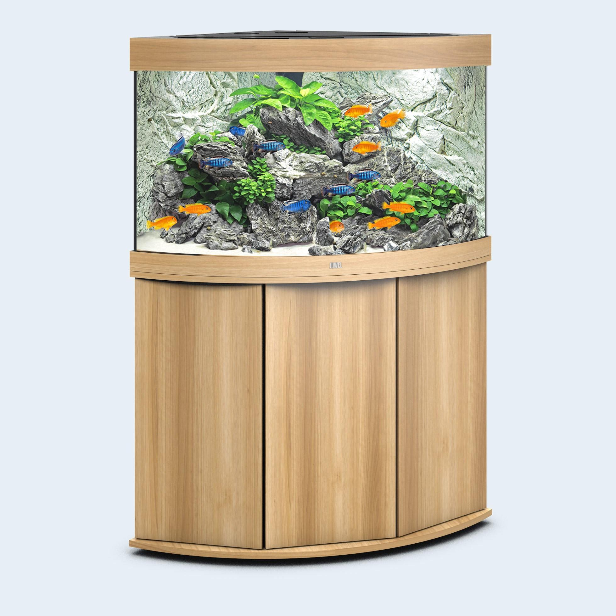 Juwel Trigon 190 liter lyst træ med underskab og Ledlys