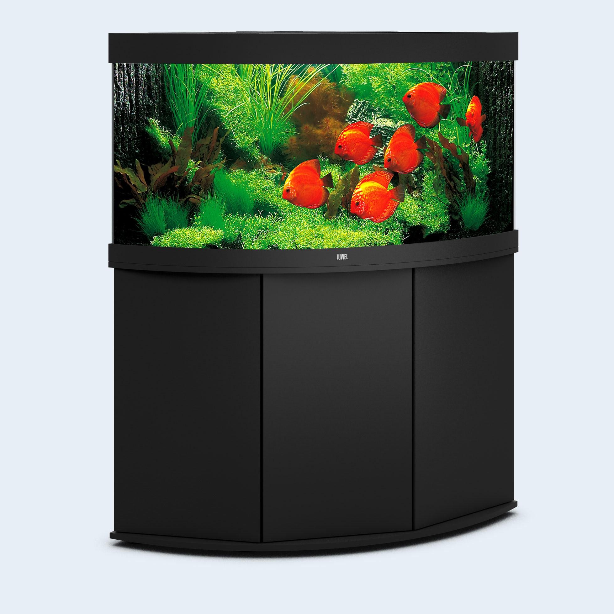Juwel Trigon 350 liter sort med underskab og Ledlys