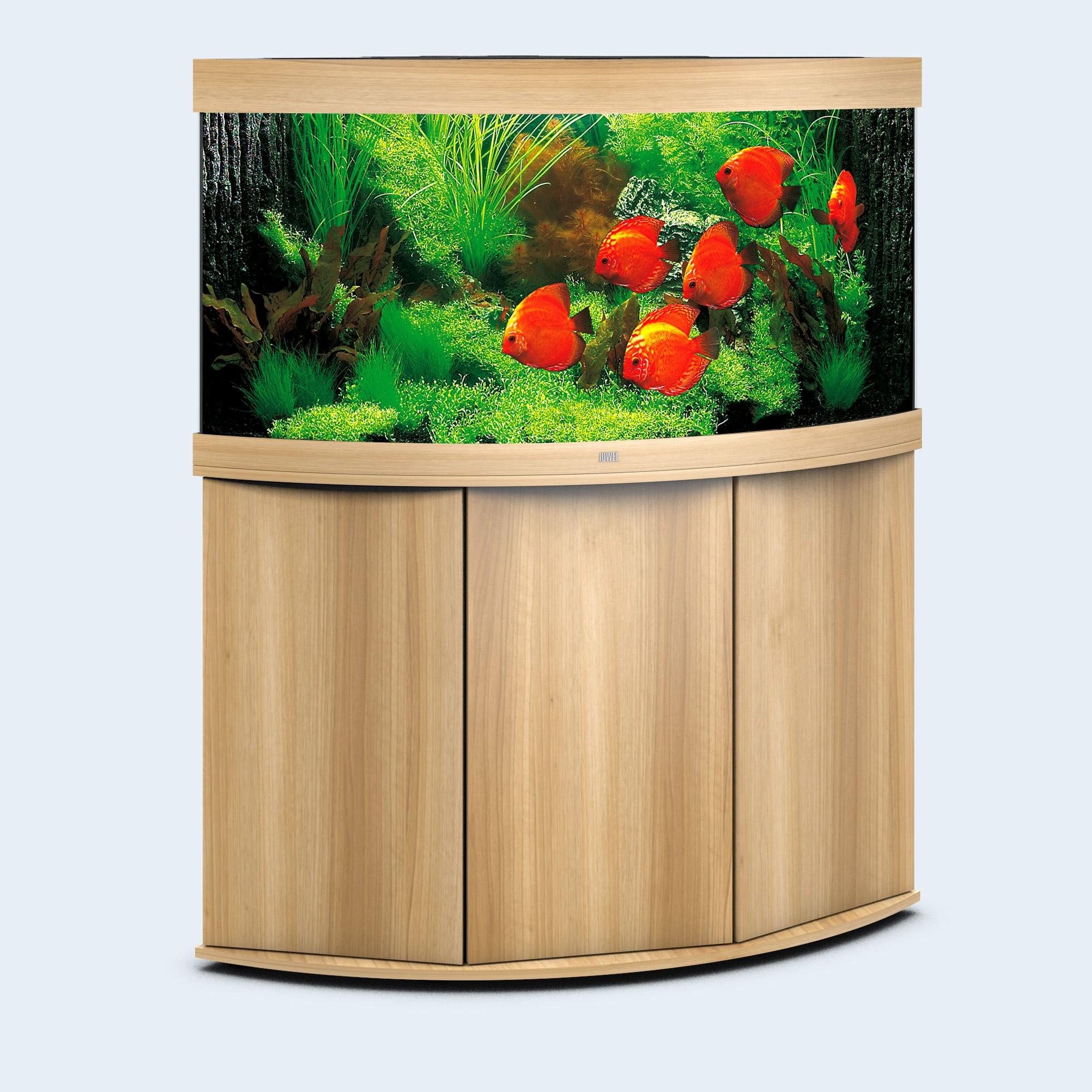 Juwel Trigon 350 liter lyst træ med underskab og Ledlys