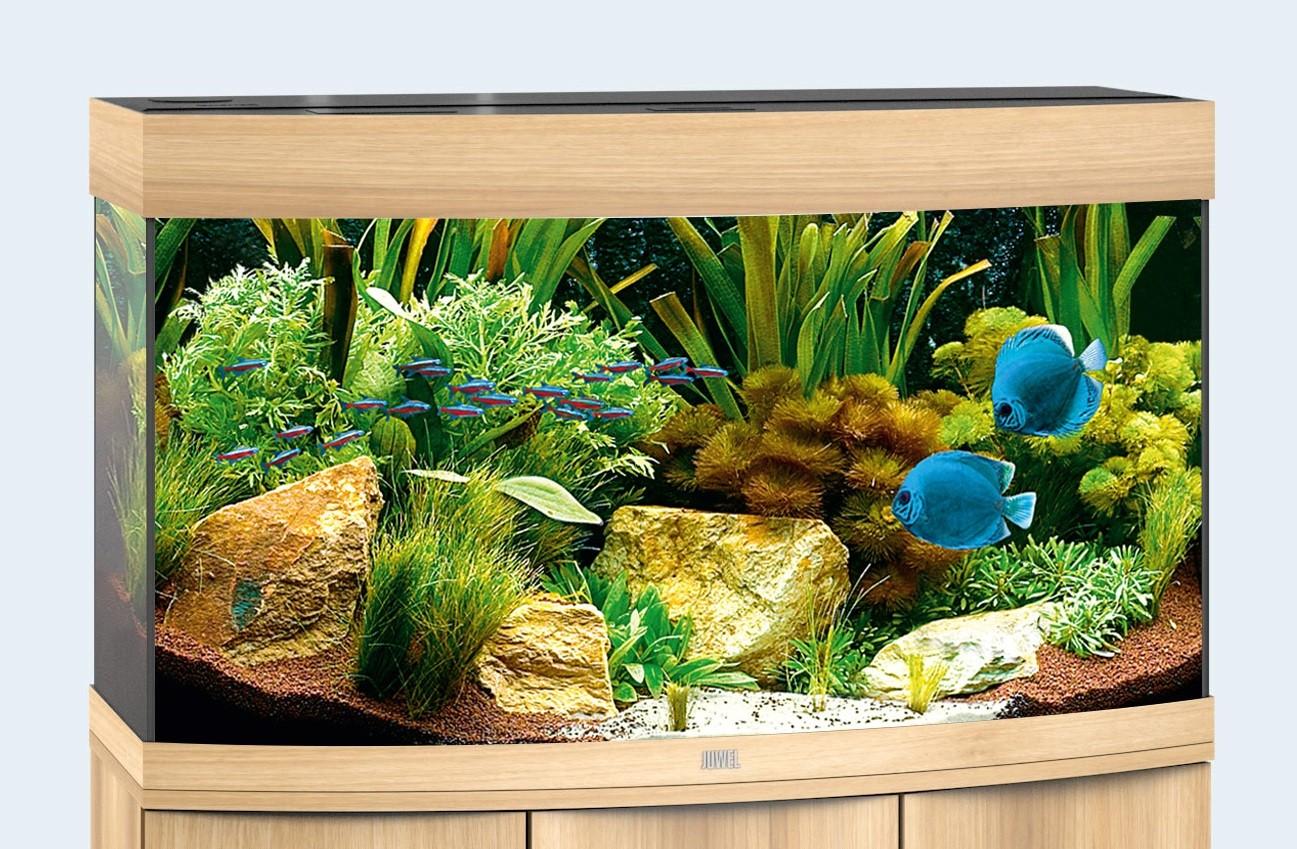 Juwel vision Akvarie 180 liter lyst træ med Led lys
