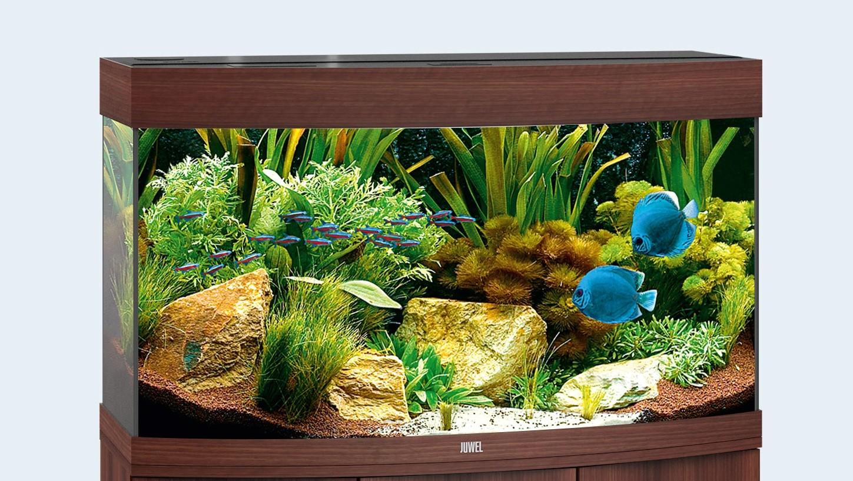 Juwel vision Akvarie 180 liter mørkt træ med Led lys