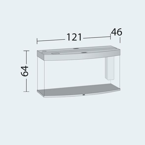 Juwel vision Akvarie 260 liter lyst træ med Ledlys