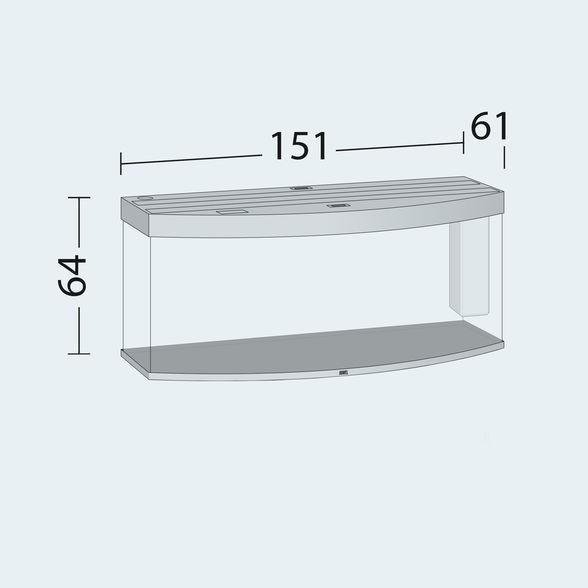 Juwel vision Akvarie 450 liter sort med Ledlys
