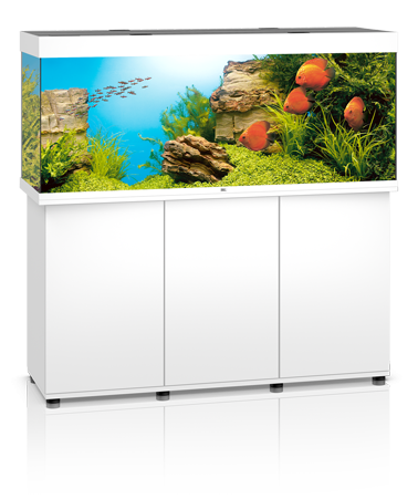 Juwel Rio 450 liter Hvid med underskab og Ledlys
