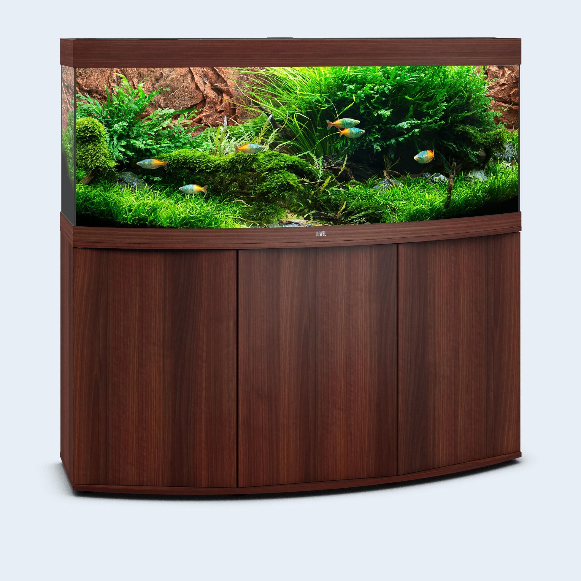 Juwel vision 450 liter mørkt træ med underskab og Ledlys