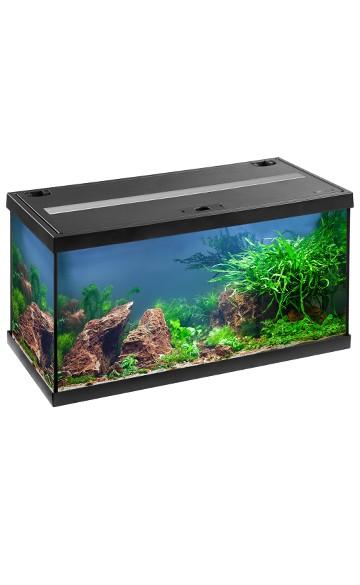 Eheim 54 LTR. Akvarie sort startsæt med Led lys.