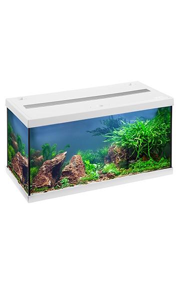 Eheim 54 LTR. Akvarie hvidt startsæt med Led lys