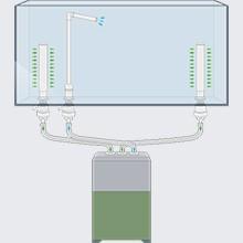 Fittings sæt 5 til bundmontering af spandpumpe, med 3 x 16/22 mm. slanger