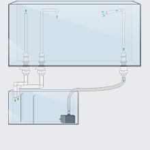 Fittings sæt 11 til bundmontering af sump. 19/27 mm