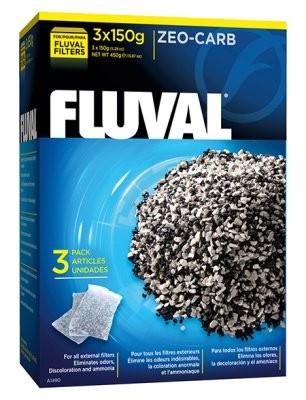 Fluval Aktivt kul + Zeolit i pose 3 x 150 gr.