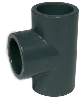 PVC T-stykke 25 mm.