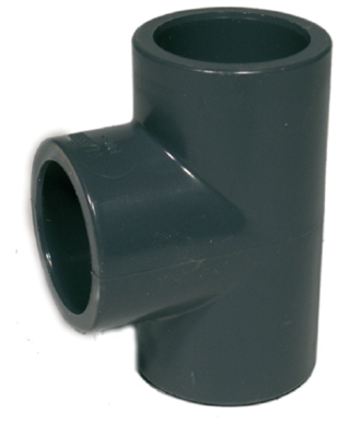 PVC T-stykke 20 mm.