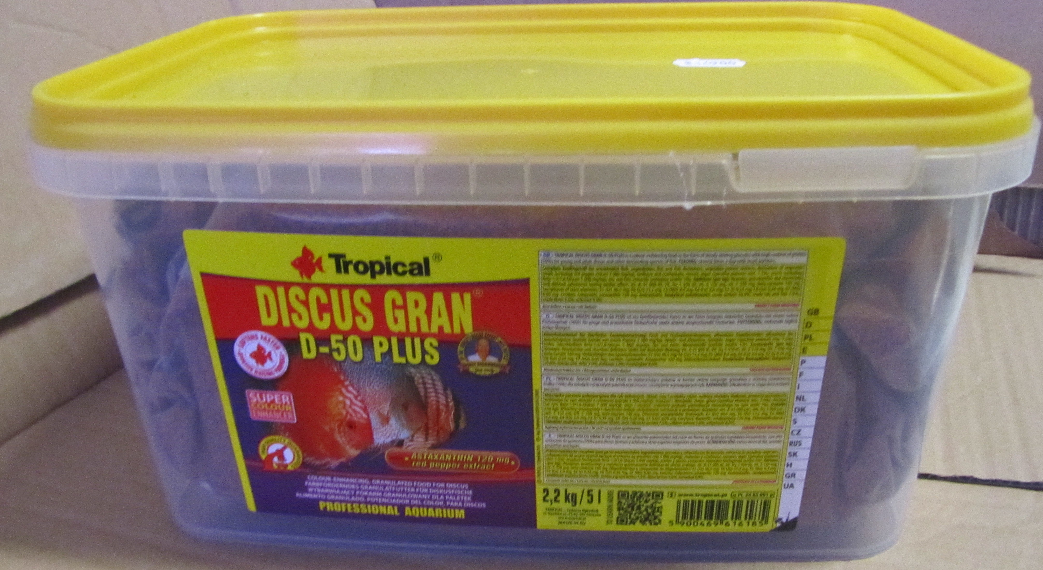 Tropical Discus granulat D-50 plus 5 Liter.